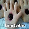 His Holey Hands Easter cookies