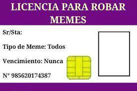 licencia ara robar memes