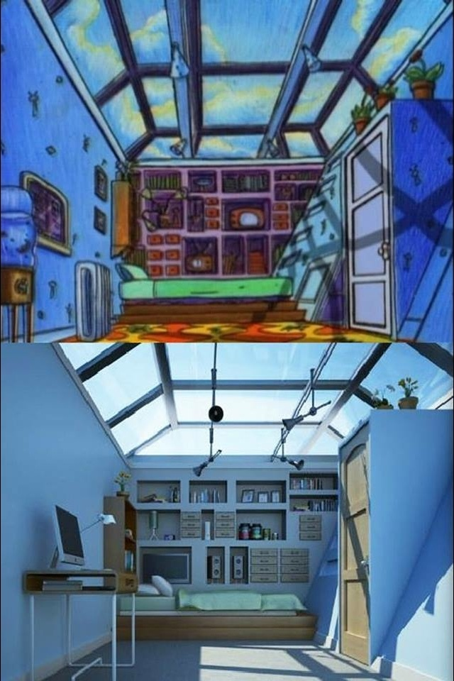 re-creation of Arnold's roof from hey Arnold - meme