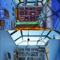 re-creation of Arnold's roof from hey Arnold