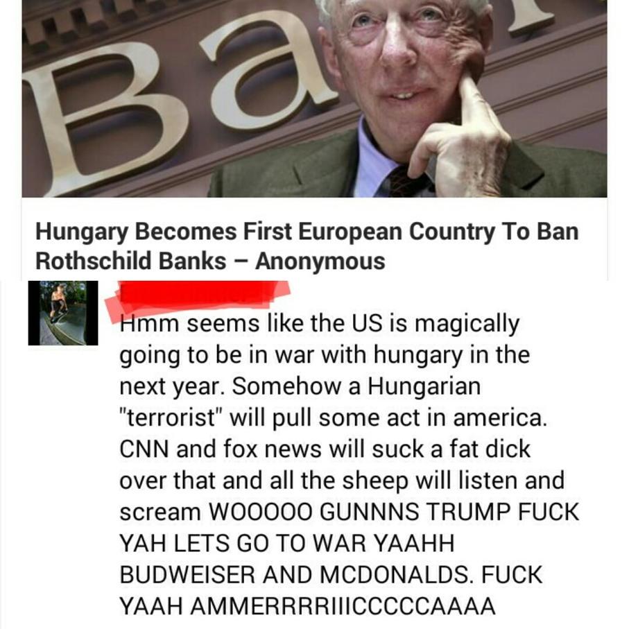 The Rothschild's own the worlds banks - meme