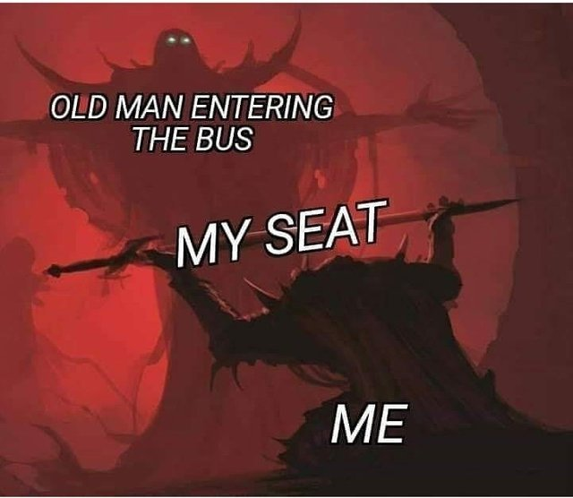 Have my seat sir - meme