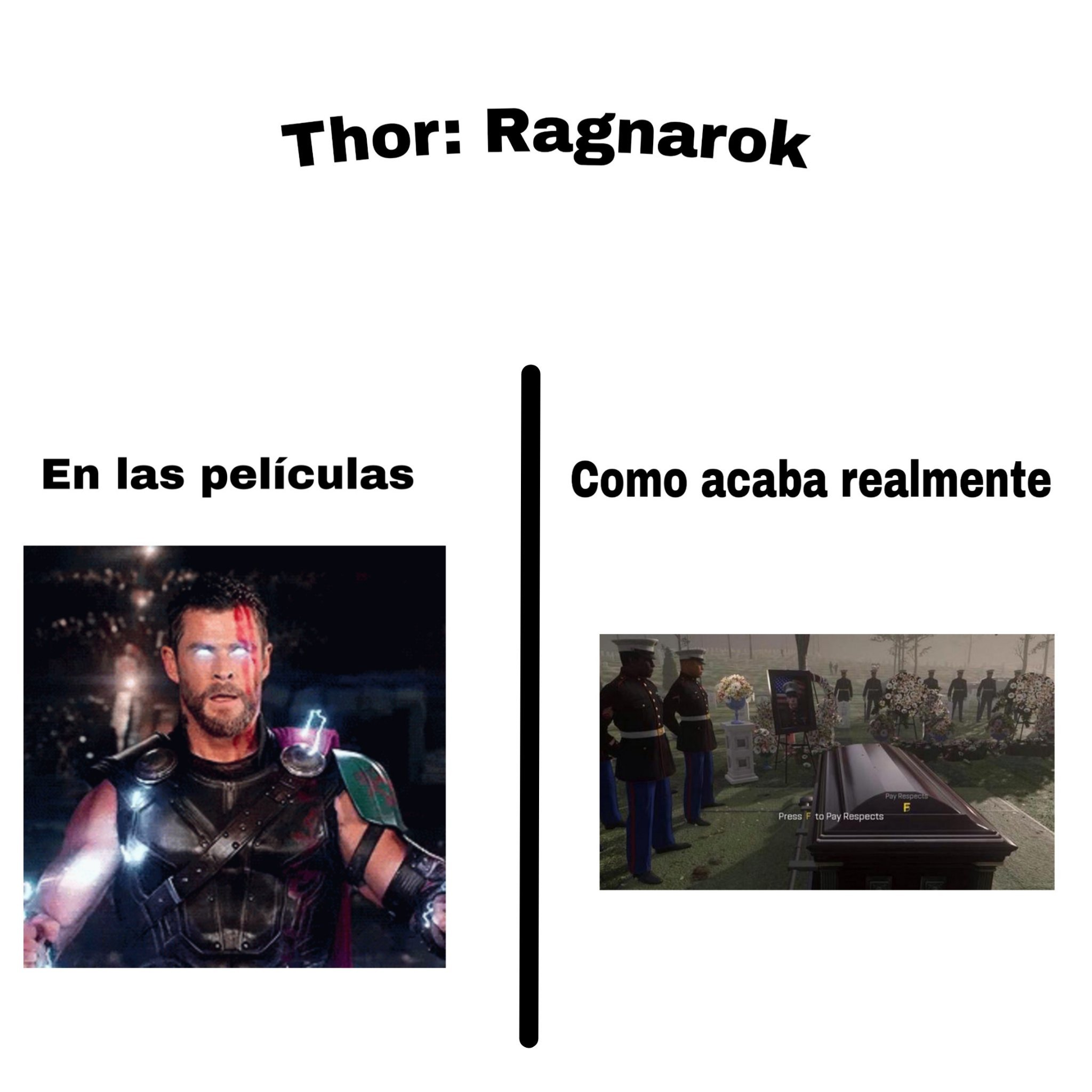 F por Thor - meme