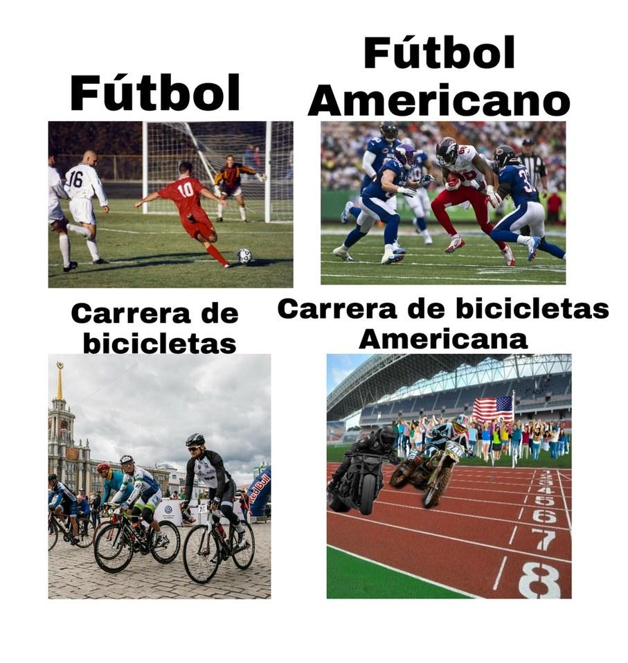 PD:en estados unidos les dicen a las carreras de bicicletas normales 'Kassar' - meme