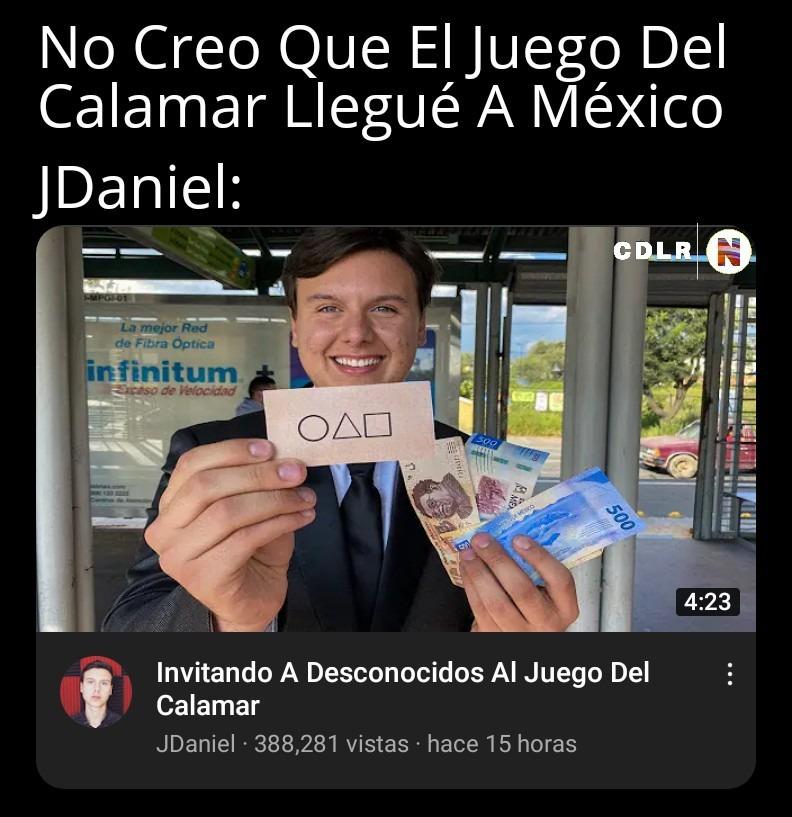 Los Juegos Del Calamar Llegó A México - meme