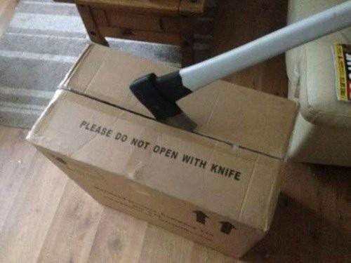 Don vergas abriendo cajas - meme