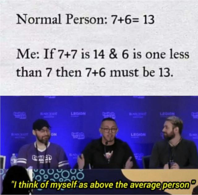 Above the average person - meme