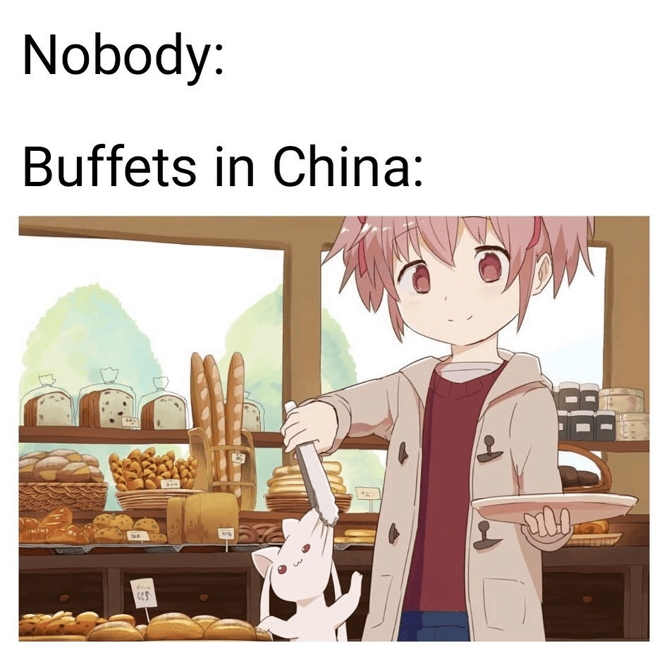 everything is food - meme
