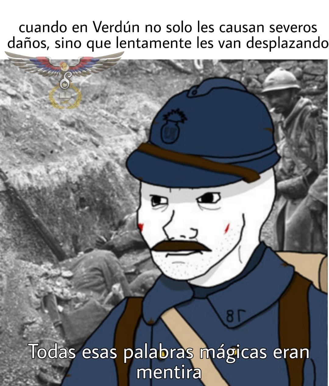 Fields of Verdun, and the judgment has begun. - meme
