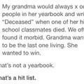 grandma is savage af