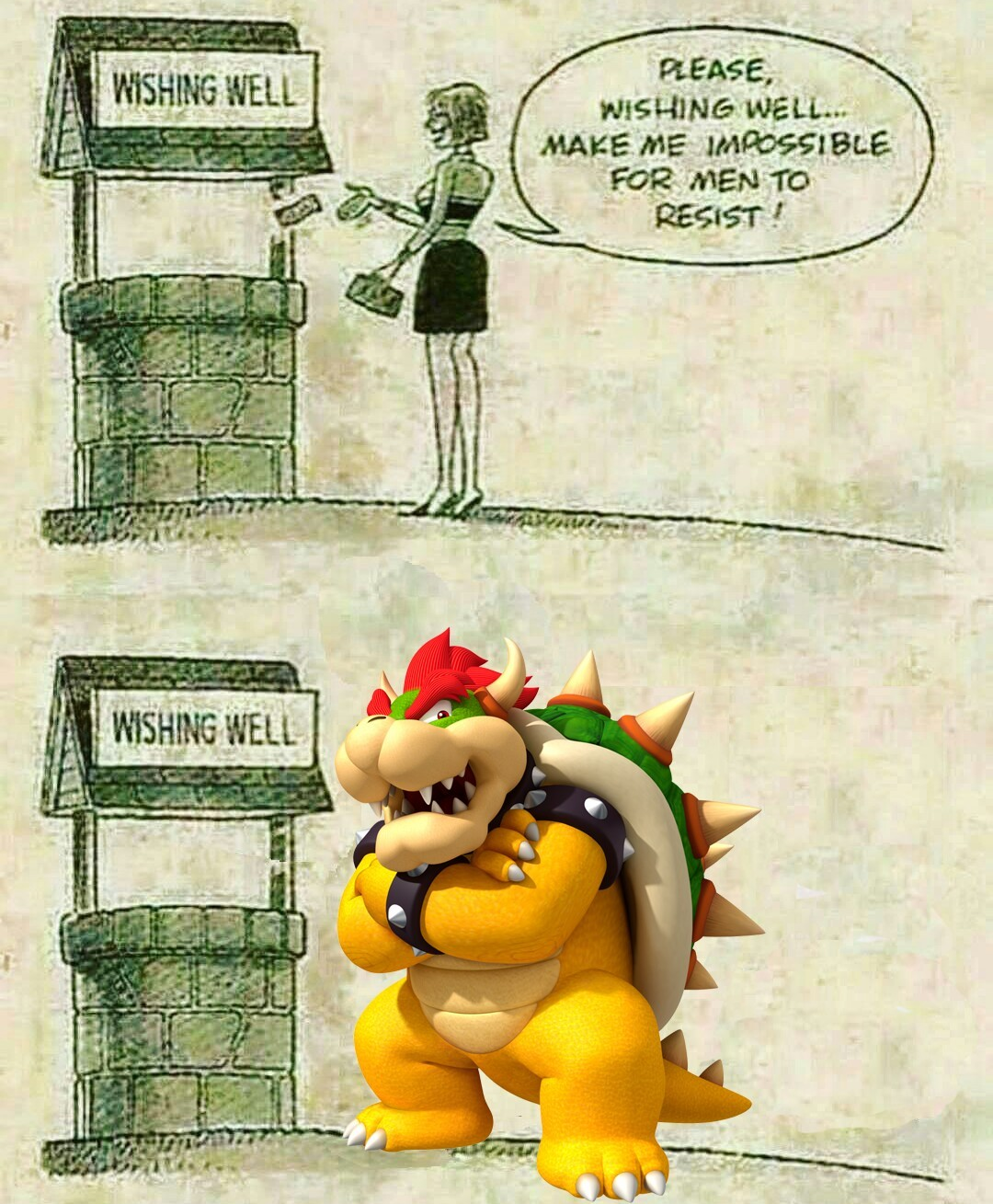 Bowser is a sexy daddy - meme