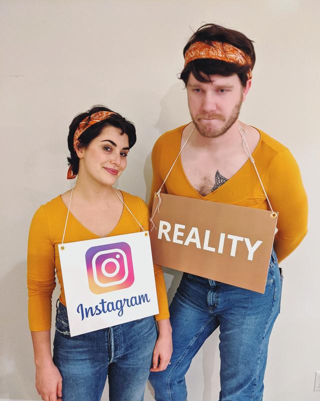Instagram vs reality - meme