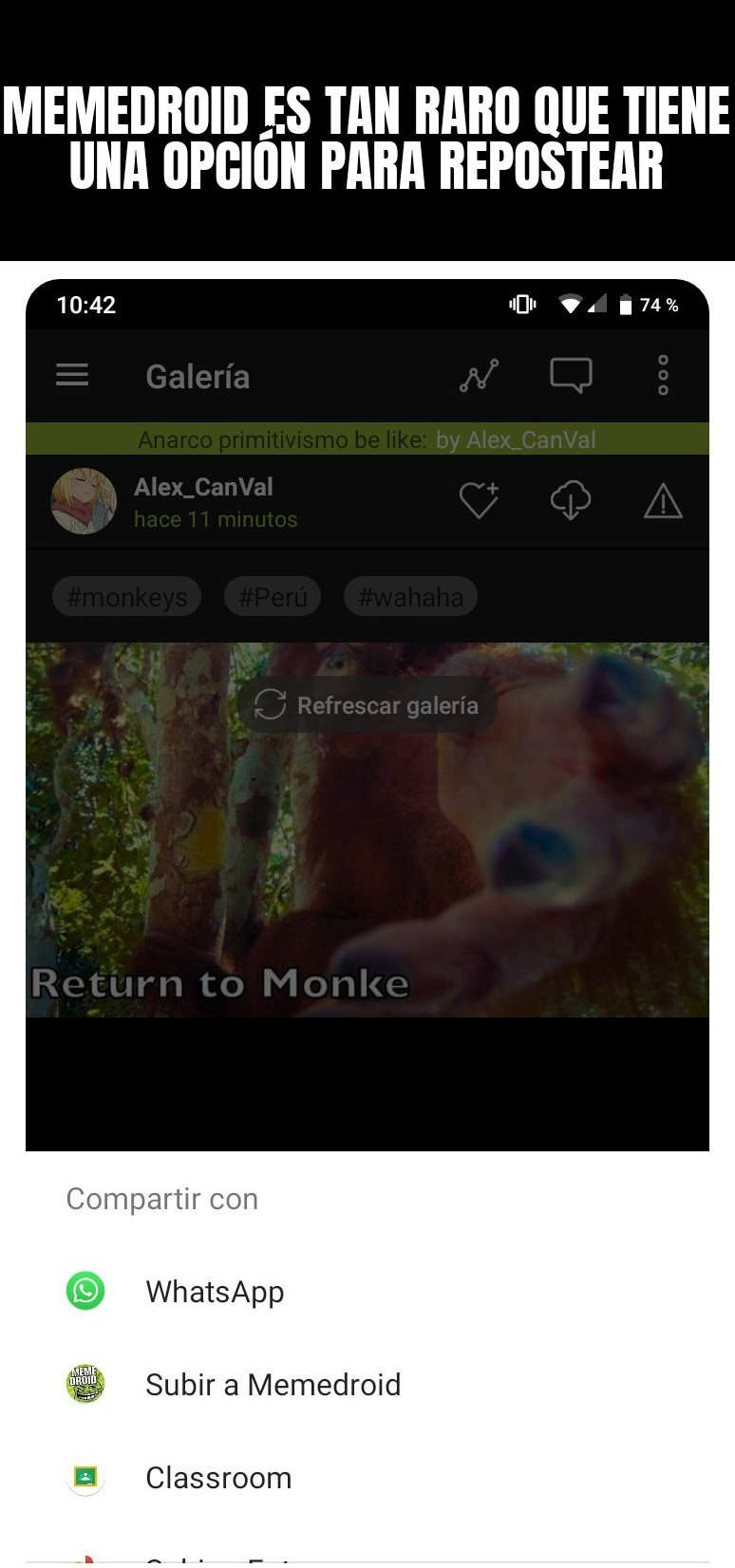 Acepten porfa original - meme