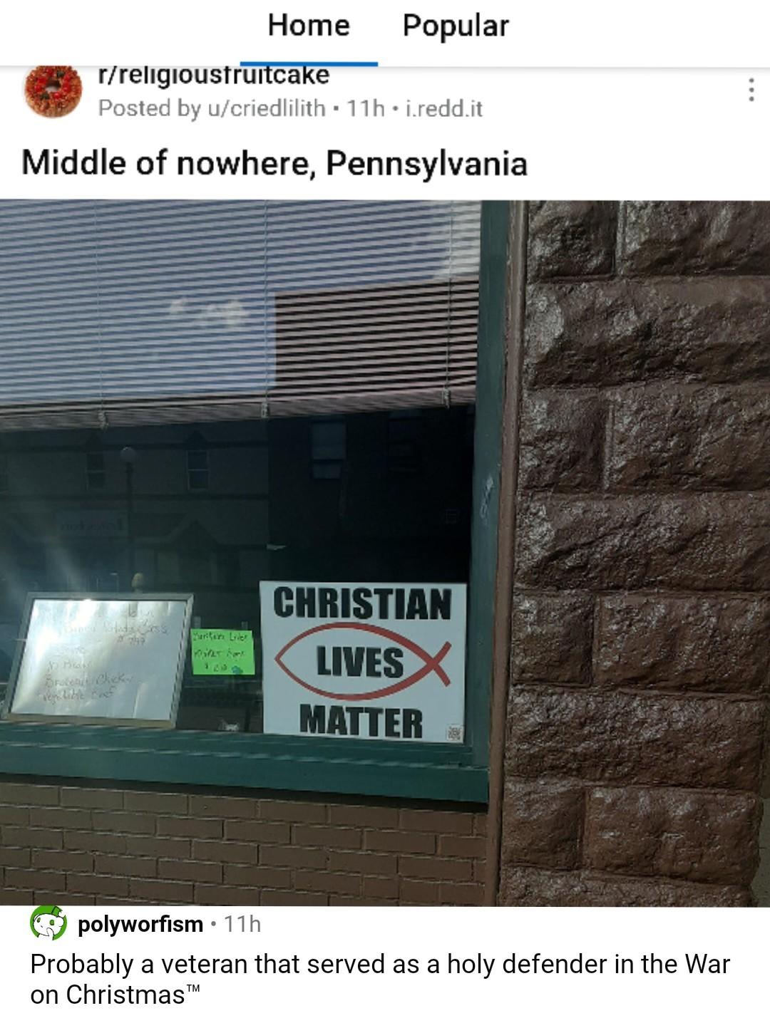 Christian lives matter - meme