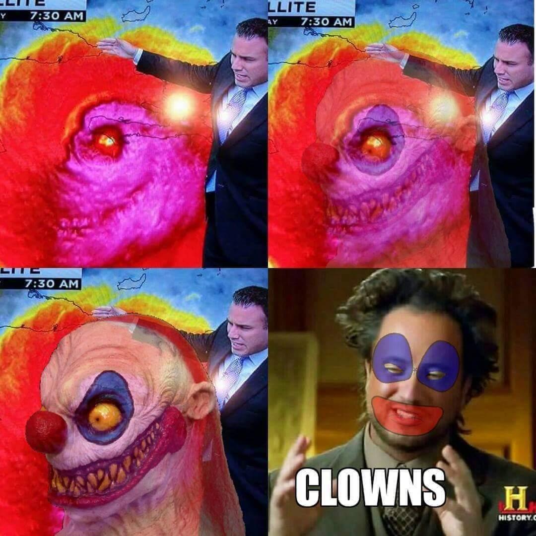 Third comment is a clown - meme