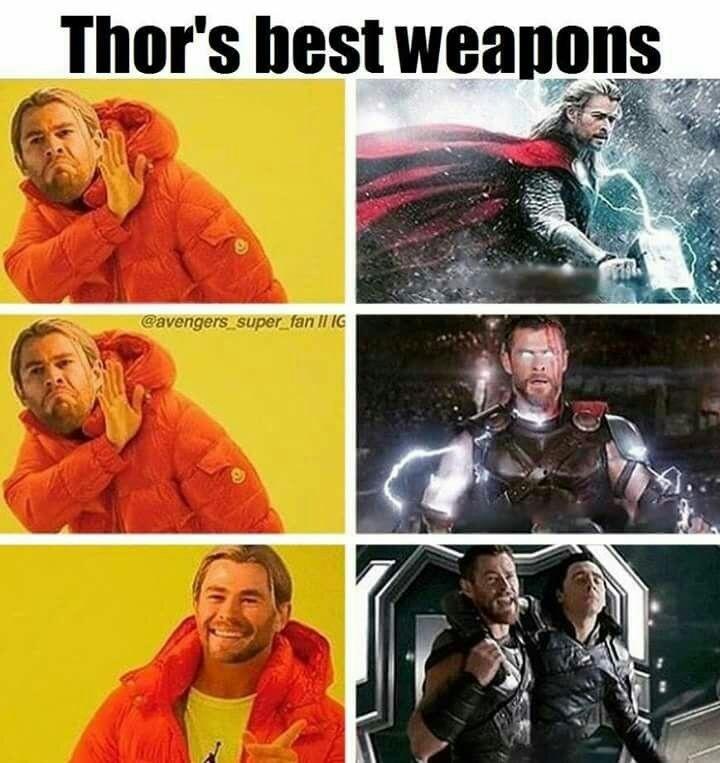 Melhor arma do thor - meme