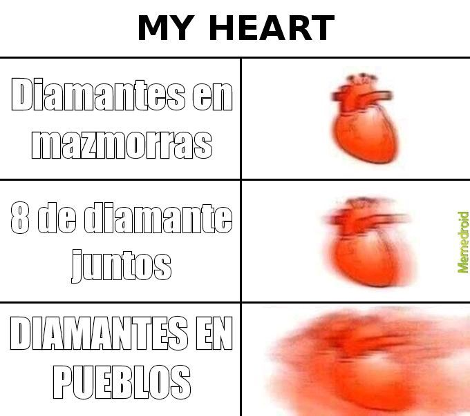 Donde encontrar diamantes - meme