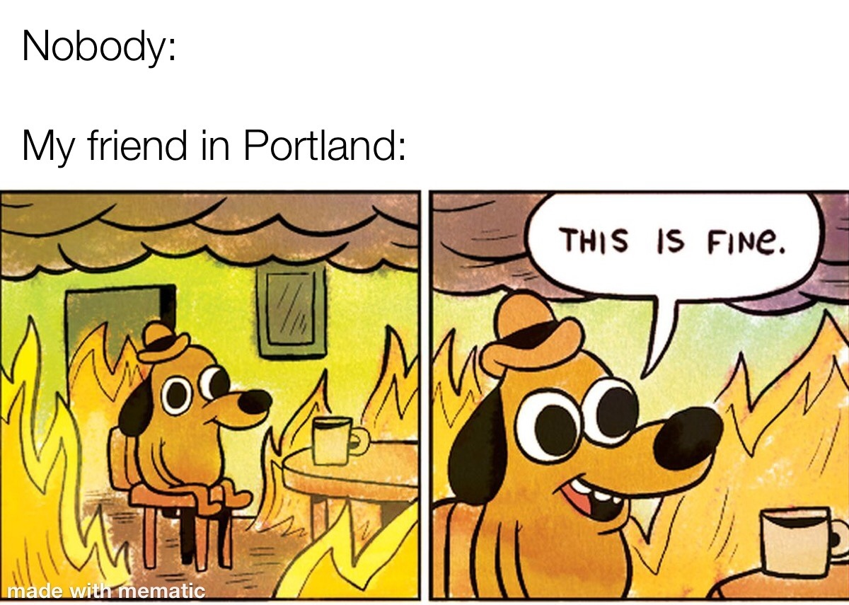 This is fine. - meme