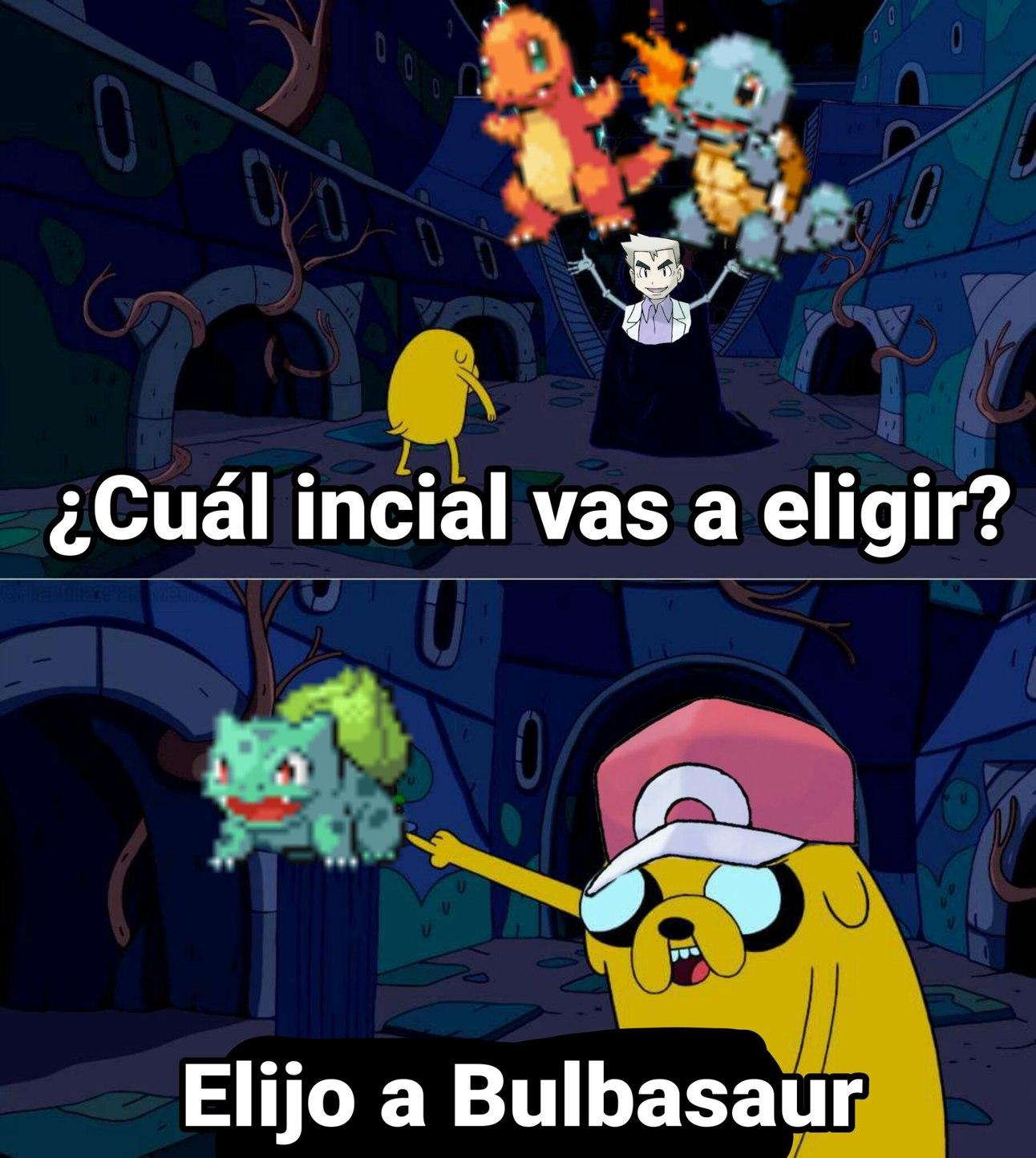 asies yo elijo bulbasaur - meme
