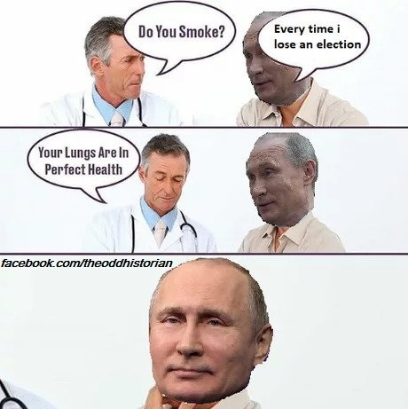 He's putin a hold on smoking - meme