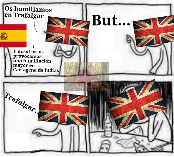 Los Spanish contra los British, un clásico - meme