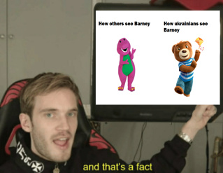 And that's a Barney - meme