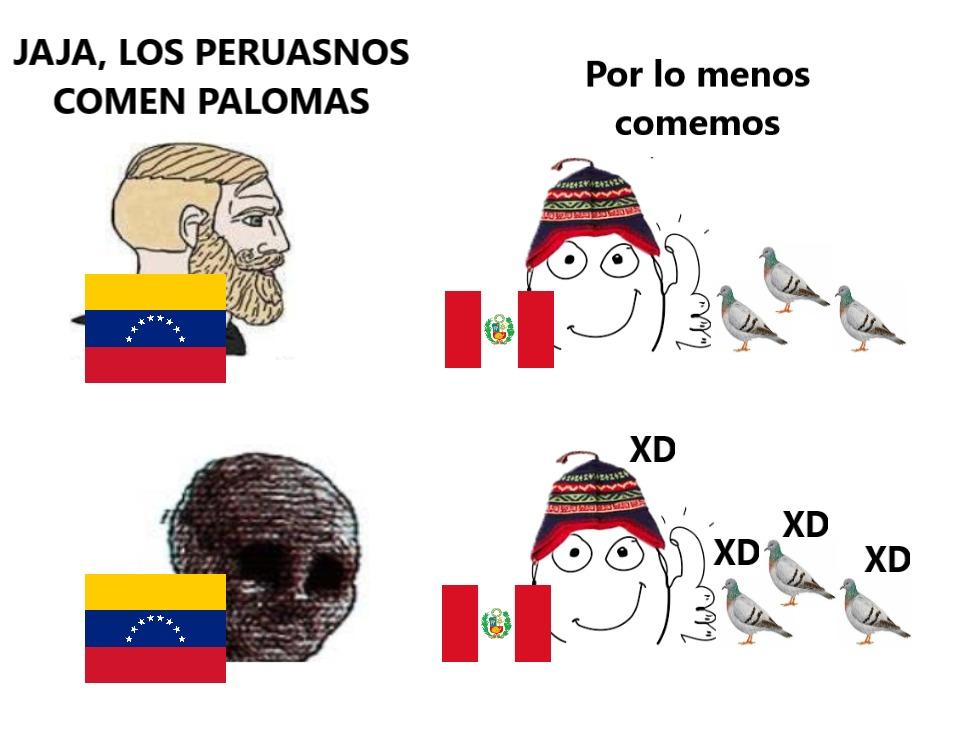 venezolano vs peruano - meme