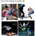 Ne pas s'endormir en public x))
