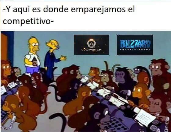 competitivo de overwatch - meme