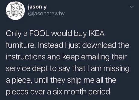 Ikea hacks - meme