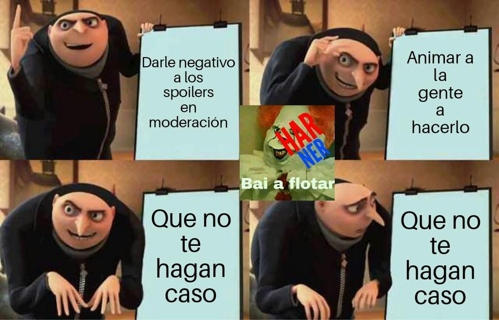 No a los spoilers - meme