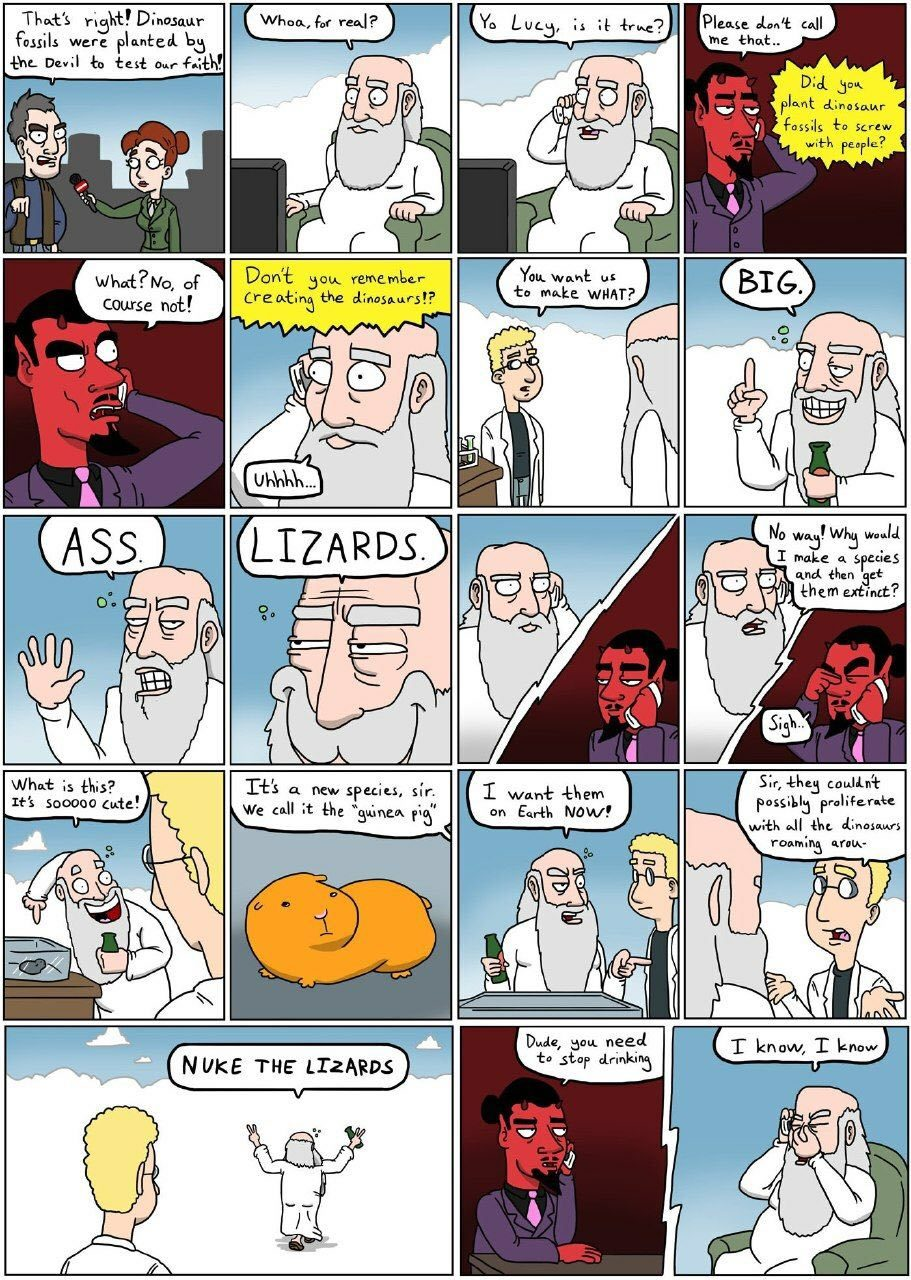 God is just like me - meme