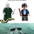 In the lego universe, Voldermort is the only one with a nose