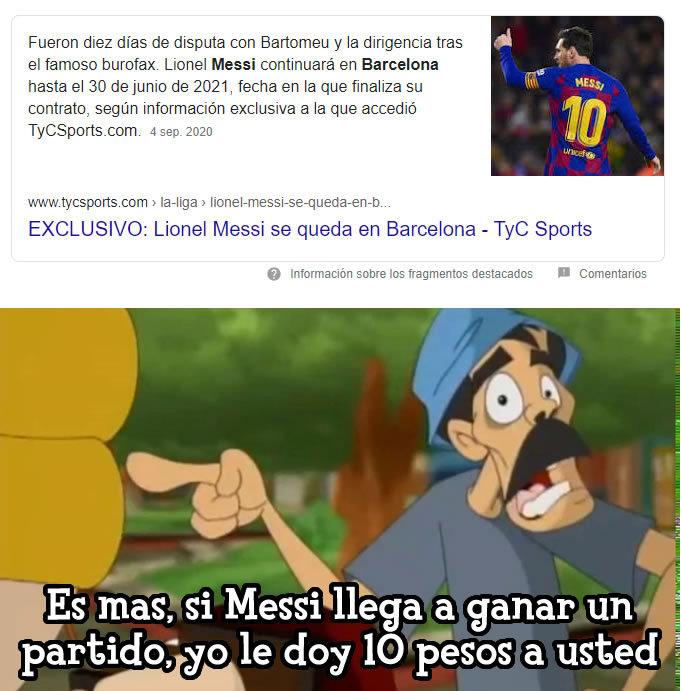 SIIIIIIIIII; Messi se queda en el Barça, esta idea se me ocurrio a mi, espero que les guste - meme