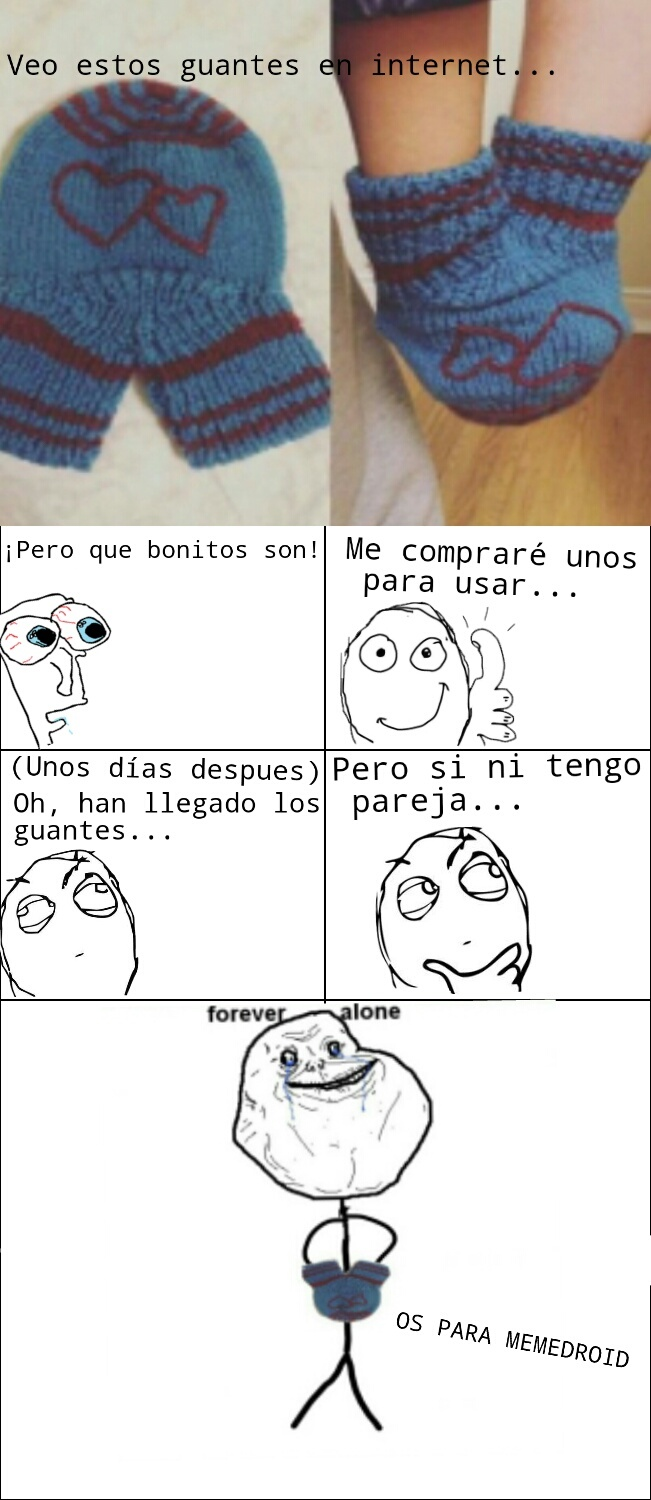 Hay que darles uso... (Forever Alone) - meme