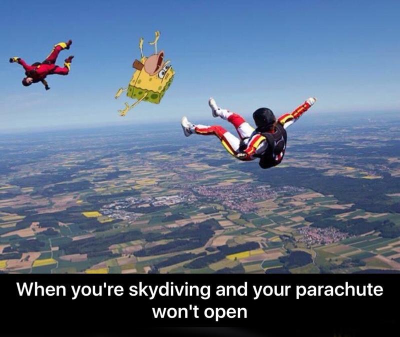 skydiving - meme