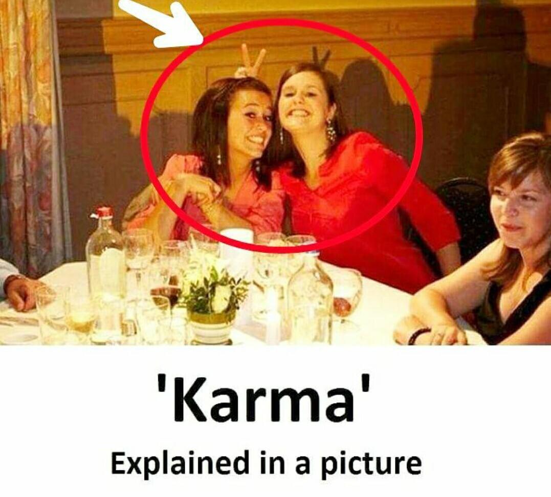 Karma is a bitch - meme