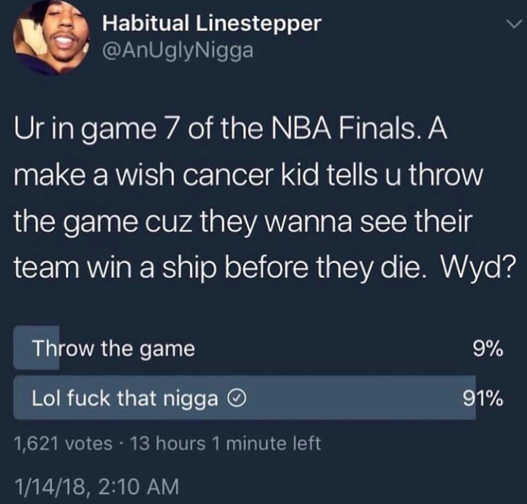 Whomst the fucj would throw the game - meme