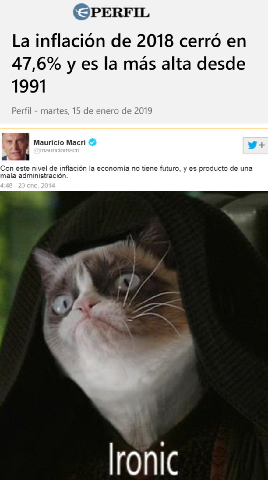 argentina un país con buena inflación - meme