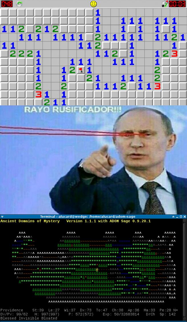Se llama ADOM es el videojuego mas difícil del mundo, un gamer promedio tarda 20 años en terminarlo - meme