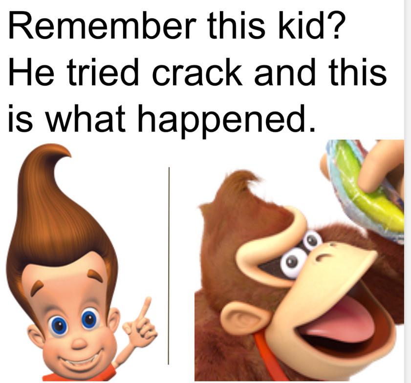 Donkey Kong=Jimmy neutron - meme