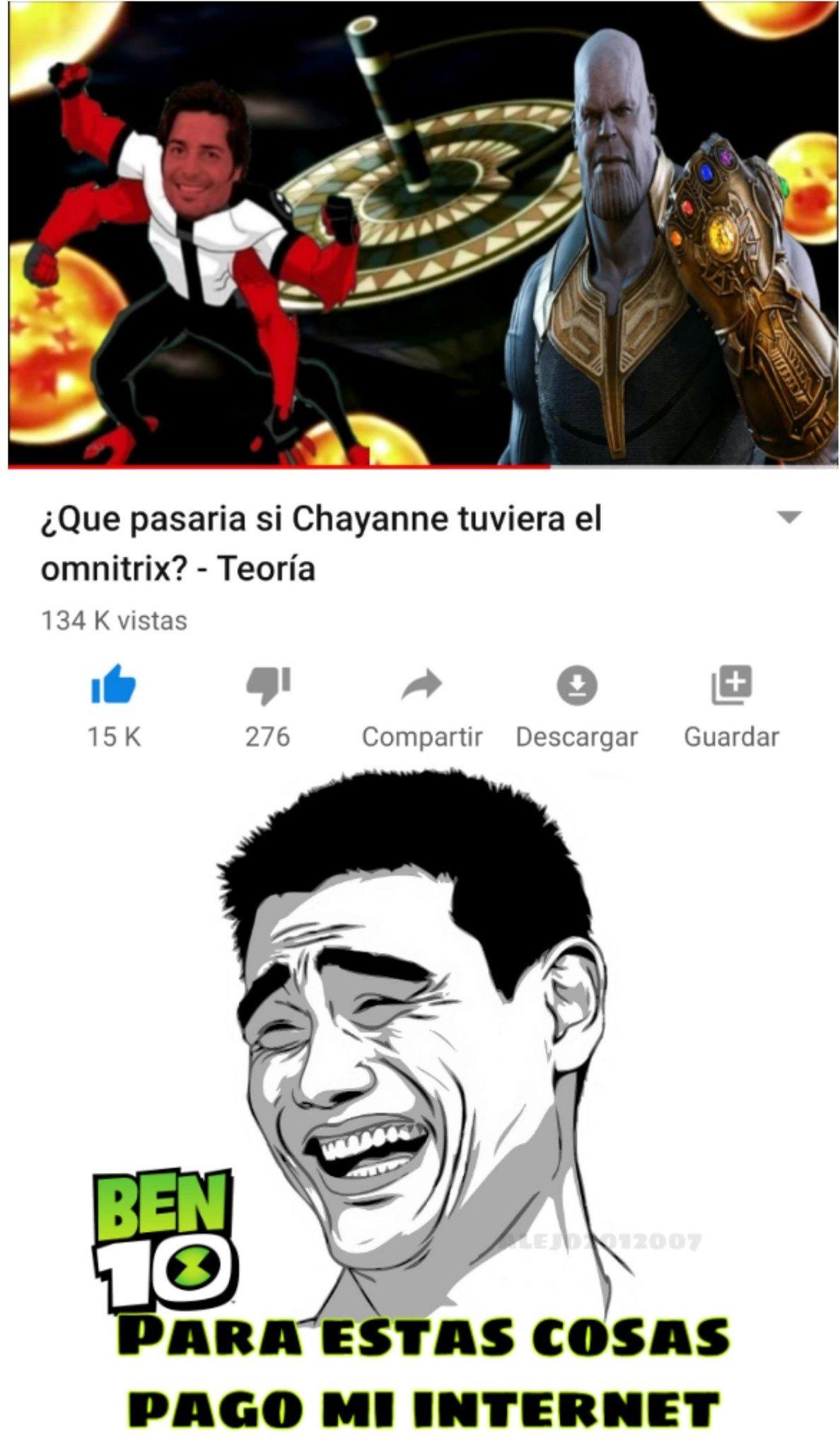 Chayanne va a salvar el mundo jajaja - meme