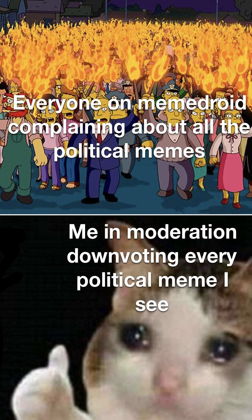 Just down vote all political memes