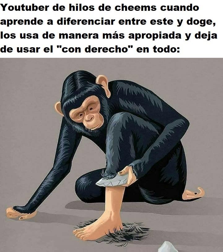 Bah, no se le sale lo mono porque sigue haciendo hilos de Cheems, pero entienden la idea - meme