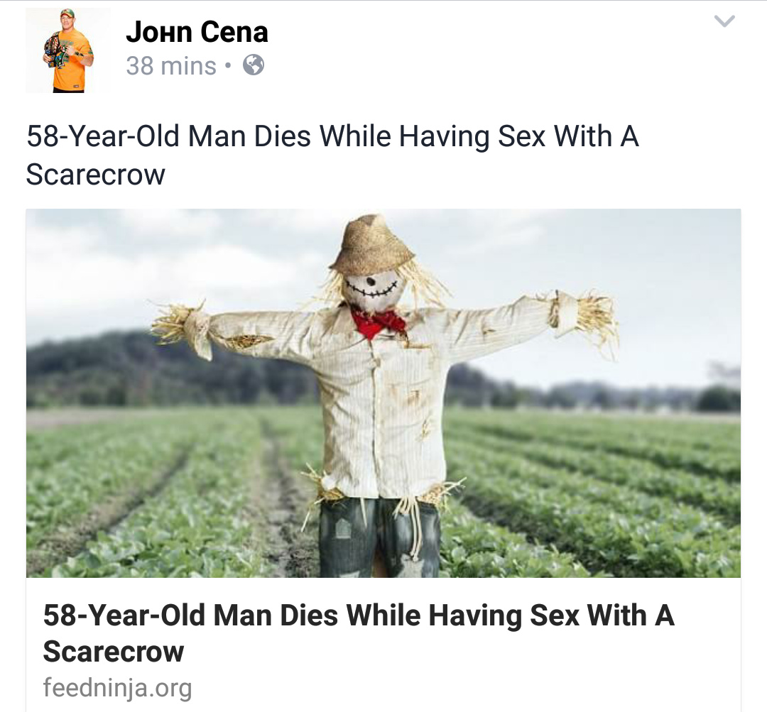 And it's John Cena who posted it - meme