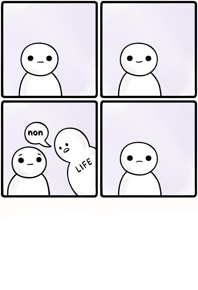 La vie m'a toujours dit NON :( - meme