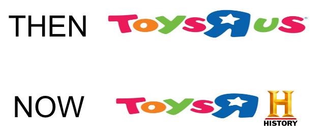 Toys R us then vs now - meme