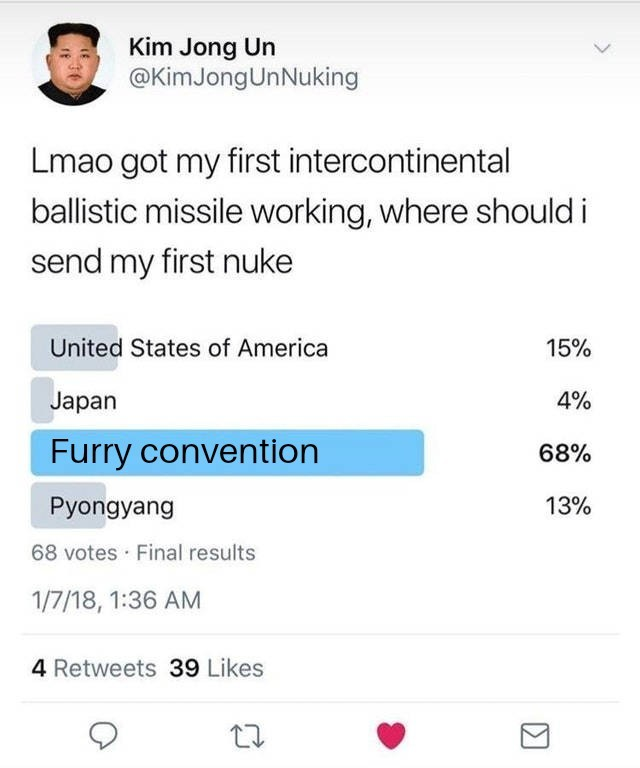 Nuke the furries - meme