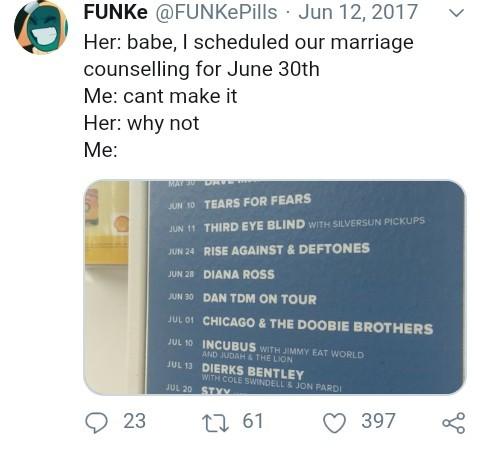FUNKe's Twitter is a treasure trove. - meme