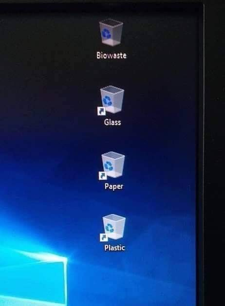 Eco friendly desktop .only true environmentalists will get it - meme